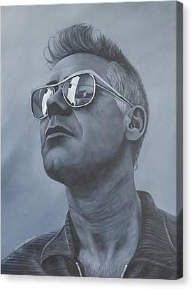 Adam Clayton U2 Canvas Print by David Dunne
