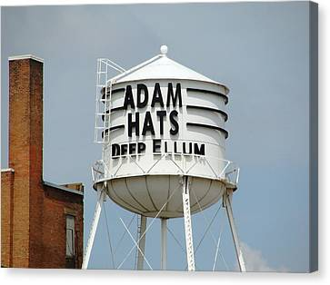 Canvas Print featuring the photograph Adam Hats In Deep Ellum by Charlie and Norma Brock
