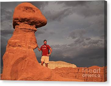 Adam Jewell At Goblin Valley Canvas Print by Adam Jewell