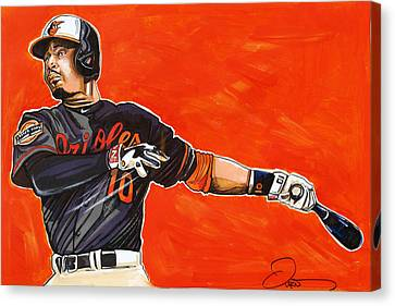 Adam Jones Canvas Print by Dave Olsen