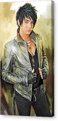 Adam Lambert Artwork 1 Canvas Print by Sheraz A