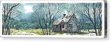 Canvas Print featuring the mixed media Adams Ranch Headquarters King County Texas by Tim Oliver