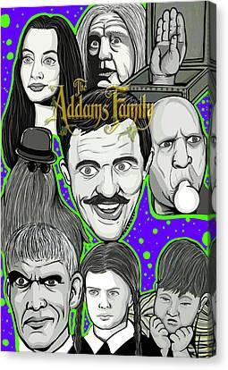 Addams Family Portrait Canvas Print by Gary Niles