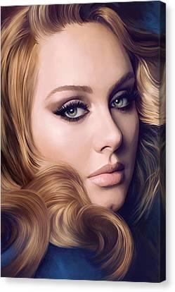 Adele Canvas Print - Adele Artwork  by Sheraz A