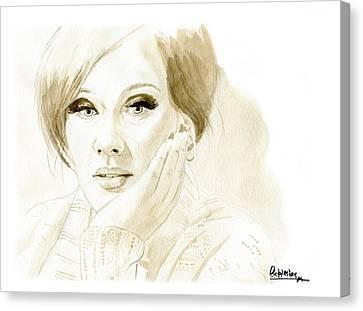Adele Canvas Print by David Iglesias