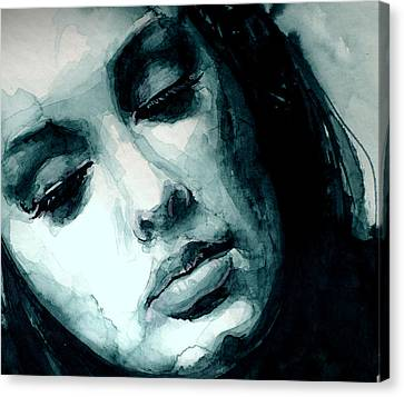 Adele In Watercolor Canvas Print by Laur Iduc