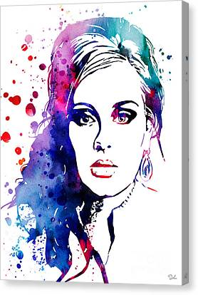 Adele Canvas Print - Adele by Watercolor Girl