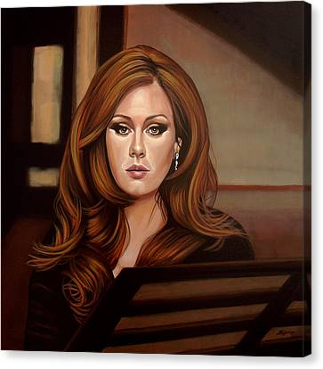 James Bond Canvas Print - Adele by Paul Meijering