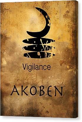 Adinkra  Akoben Canvas Print