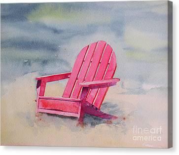 Adirondack At The Beach Canvas Print by Ranjini Kandasamy