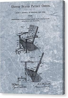 Adirondack Chair Patent Blue Canvas Print