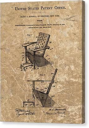 Adirondack Chair Patent Canvas Print