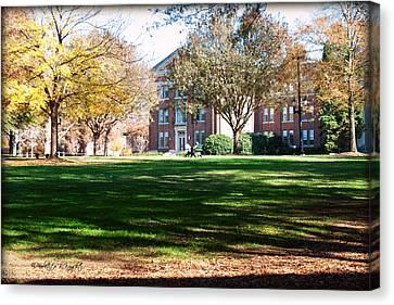 Adirondack Chairs 6 - Davidson College Canvas Print by Paulette B Wright