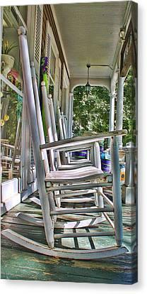 Adirondack Chairs At Skaneateles Ny Canvas Print