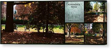 Adirondack Chairs Collage6 Canvas Print by Paulette B Wright