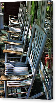 Adirondack Chairs Skaneateles Ny Canvas Print