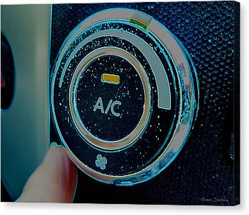 Adjusting The Air Conditioning Canvas Print