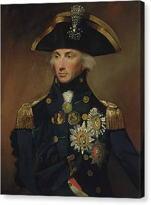 Admiral Horatio Nelson Canvas Print by War Is Hell Store