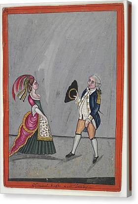 Admiral Hughes And Mrs. Oakeley Canvas Print