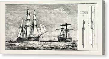 Admiral Schombergs Proposed New Rig For Men-of-war Canvas Print