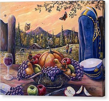 Admirals Harvest Canvas Print by Gail Butler
