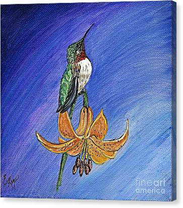 Canvas Print featuring the painting Admiration by Ella Kaye Dickey