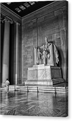 Admiring Lincoln Canvas Print