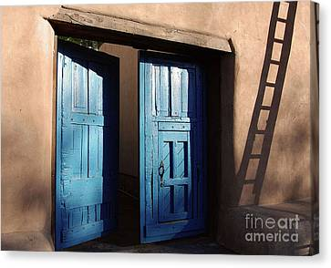 Adobe Blues Canvas Print by Gina Savage