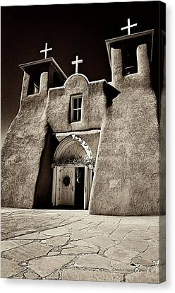 Francis Canvas Print - Adobe Church by Charles Muhle