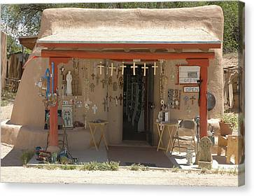 Adobe Gift Shop Canvas Print by Jerry McElroy