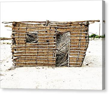 Canvas Print featuring the photograph Adobe Shack 1 by Lin Haring