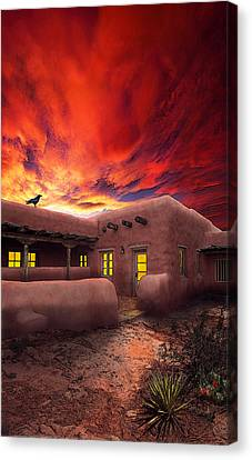 Adobe Sunset Canvas Print by Ric Soulen