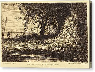 Adolphe Appian French, 1818 - 1898, Aux Environs De Menton Canvas Print by Quint Lox