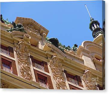 Canvas Print featuring the photograph Adolphus Hotel - Dallas #2 by Robert ONeil