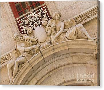 Canvas Print featuring the photograph Adolphus Hotel - Dallas #3 by Robert ONeil
