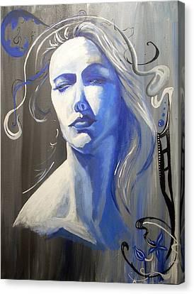 Adora In Blue Canvas Print