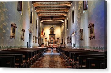 Jesus Canvas Print - Adoration - San Diego De Alcala by Stephen Stookey