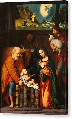 Adoration Of The Christ Child  Canvas Print by Celestial Images