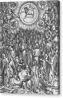Adoration Of The Lamb Canvas Print by Albrecht Durer or Duerer