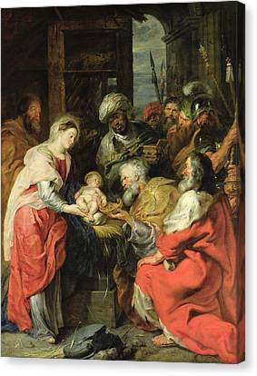 Three Kings Canvas Print - Adoration Of The Magi, 1626-29 Oil Canvas by Peter Paul Rubens