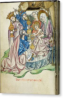 1420 Canvas Print - Adoration Of The Magi by British Library