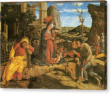 Adoration Of The Shepherds Canvas Print by Andrea Mantegna