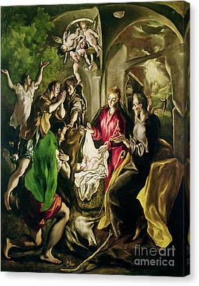 Adoration Of The Shepherds Canvas Print by El Greco Domenico Theotocopuli