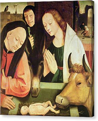 Adoration Of The Shepherds  Canvas Print by Hieronymus Bosch
