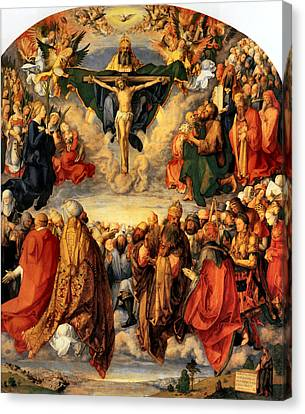 Adoration Of The Trinity Canvas Print by Albrecht Durer