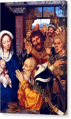 Adoring Baby Jesus Canvas Print by Munir Alawi