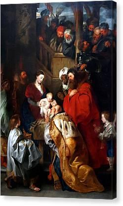 Adoring King Of The Kings Canvas Print by Munir Alawi