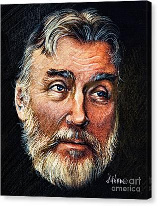 Adrian Paunescu -portrait Canvas Print by Daliana Pacuraru