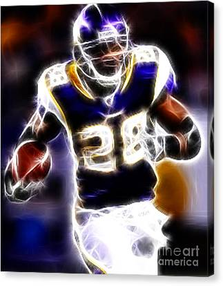 Adrian Peterson 01 - Football - Fantasy Canvas Print by Paul Ward