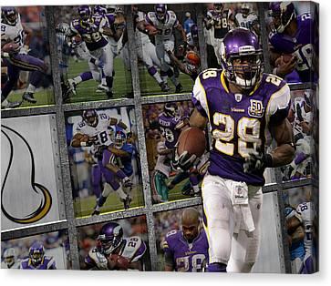 Peterson Canvas Print - Adrian Peterson Minnesota Vikings by Joe Hamilton